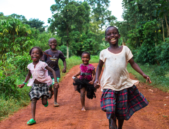 Children Running and Laughing