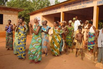 Benin Women's Group singing about malaria