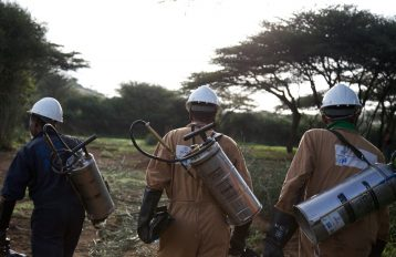 IRS spray operators in the field, Ethiopia, 2014