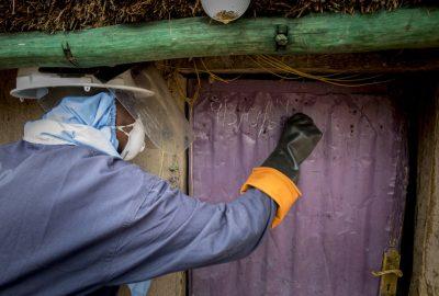 House IRS Kenya 11 - Jane's house getting sprayed