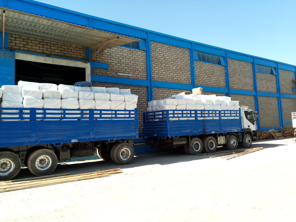 Trucks with LLINS in Ethiopia