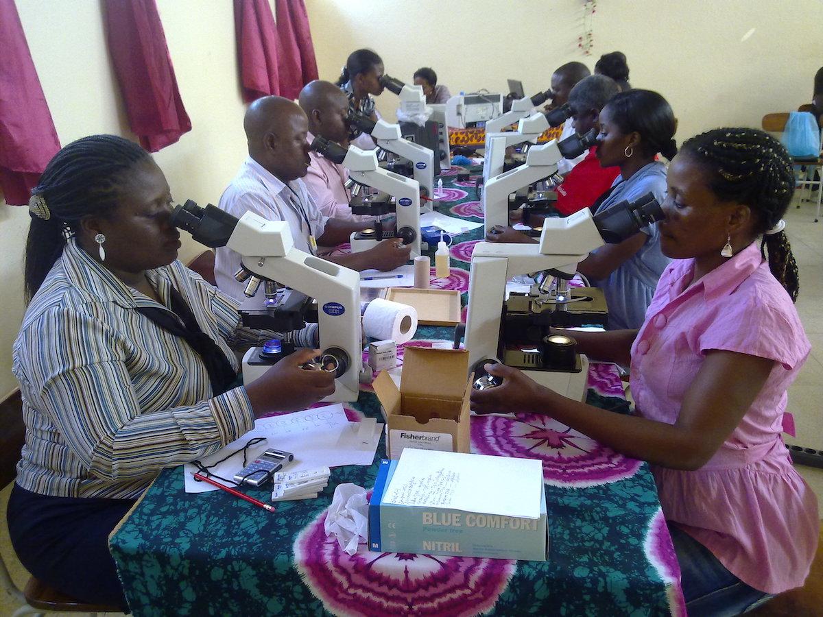 Laboratory training for parasite detection